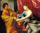 Potiphar's wife tries to seduce Joseph