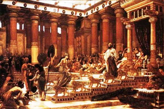 'Visit of the Queen of Sheba to King Solomon's court', Sir Edward Poynter