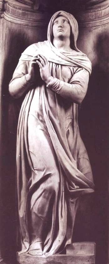 Rachel, Michelangelo, stone sculpture, Rome