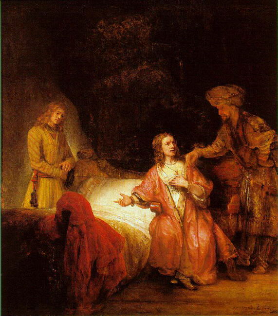 Paintings, Joseph, Rembrandt, Joseph Accused by Potiphar's Wife, 1655