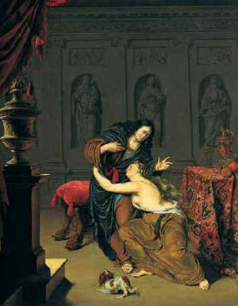 Paintings, Joseph in the Bible, Willem van Mieris, Joseph and Potiphar's Wife