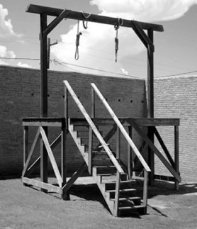 Bible Heroes: Mordecai. Reconstruction of a gallows