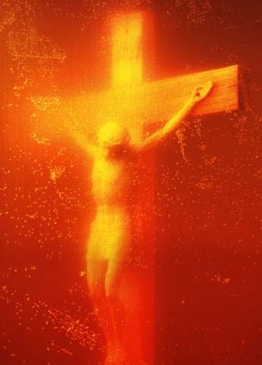 Worst Sins in the Bible: Blasphemy. 'Piss Christ', by Andres Serrano: a small plastic crucifix submerged in the artist's urine