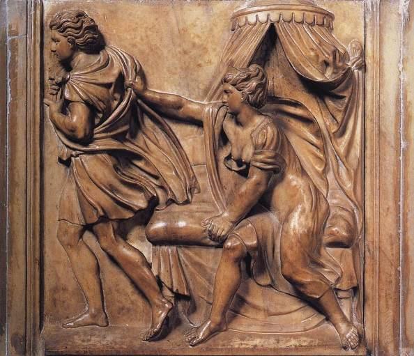 Bible paintings: Properzia de Rossi, Joseph and Potiphar's Wife
