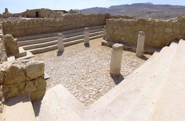 Masada: remains of the synagogue on the summit of Masada