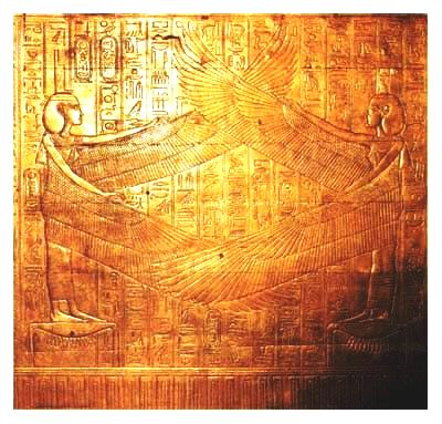 Photograph of part of the third outer shrine in the Tomb of Tutankhamen