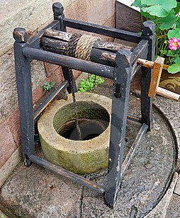 Ancient technology: a stone well with windlass