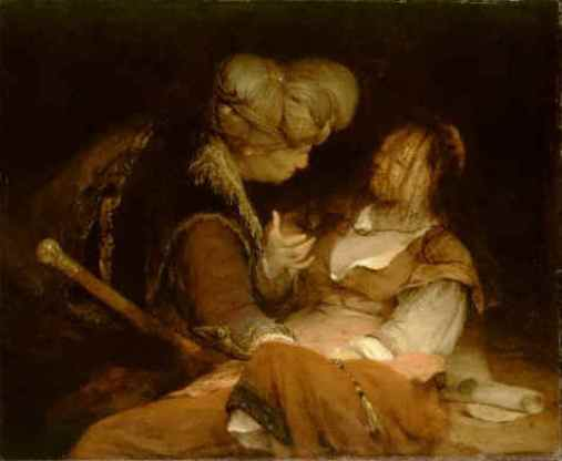 BIBLE PAINTINGS: TAMAR: Aert de Gelder, Judah and Tamar