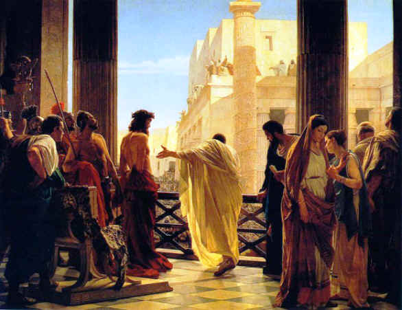 'Ecce Homo' - Behold the Man. Painting by Antonio Ciseri, 1880