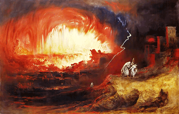 Bad Bible Women: Lot's Wife. The destruction of Sodom and Gomorrah, John Martin