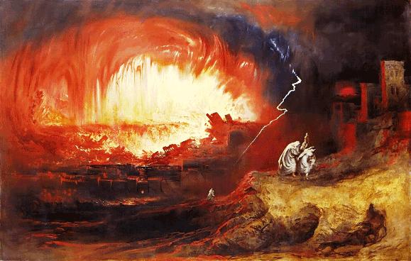 Bad Bible Women: Lot's Wife. The destruction of Sodom and Gomorrah, John Martin