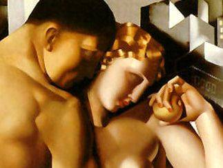 Bad Bible Women: Eve. Adam and Eve, painting by Tamara de Lempicka