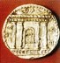 Coin showing the facade of the Temple of Jerusalem