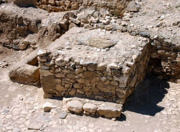 Altar excavated at the ancient city of Arad