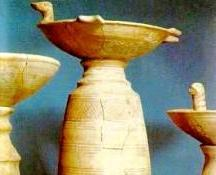 Ancient sacred vessels for the burning of incense