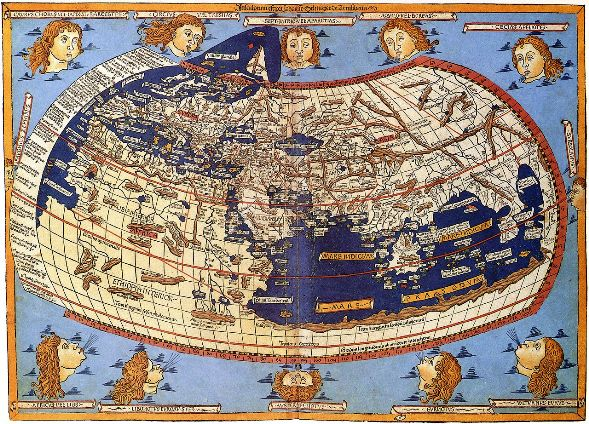 The world, as envisaged by Claudius Ptolemaus: a printed map from the 15th century