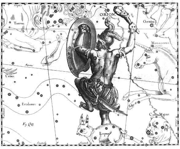Above: some of the constellations, as the Greeks saw them