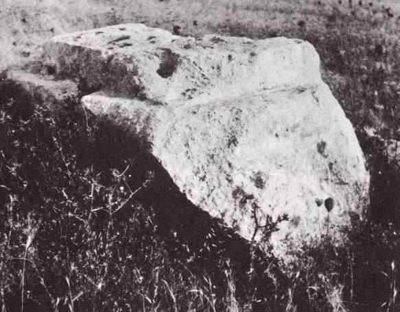 Large monolithic altar at Tsor'ah, Samson's home town