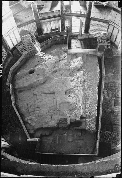 The Rock of the Dome, on which Solomon's Tempe and its Altar as said to have stood.