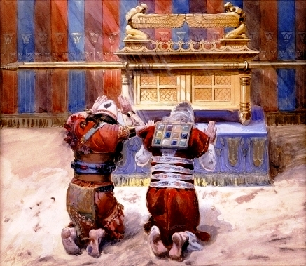 An artist's recreation of the Ark: James Tissot, 'Moses and Joshua in the Tabernacle'