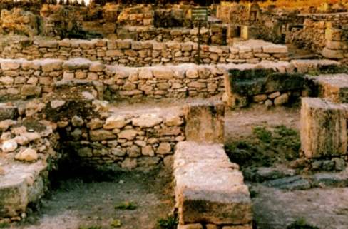 Excavations at the ancient city of Ugarit, where the Baal/Anat epic was discovered