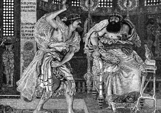 Ehud kills the king