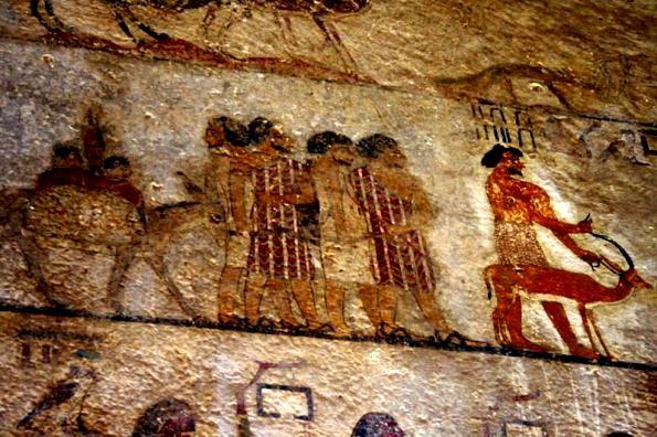 Beni_Hassan mural of Asiatic travellers