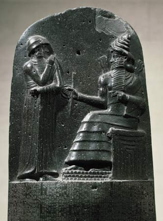 Hammurabi had authority to give judgement on points of law,