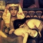 Pharaoh with his dead son and grieving wife