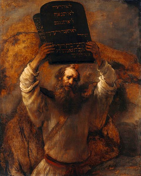 Moses Smashing the Stone Tablets, Rembrandt.