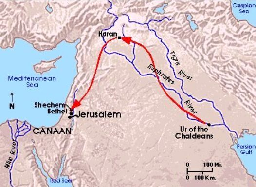 This is the probable route taken by Abraham