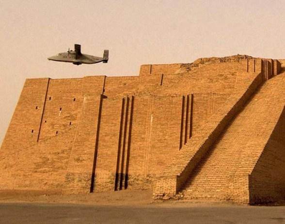 The reconstructed ziggurat at Ur