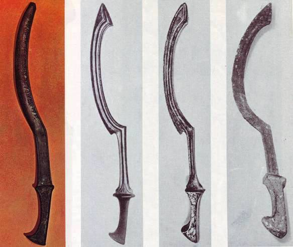 The four swords above complete our knowledge of its detailed form and shape.