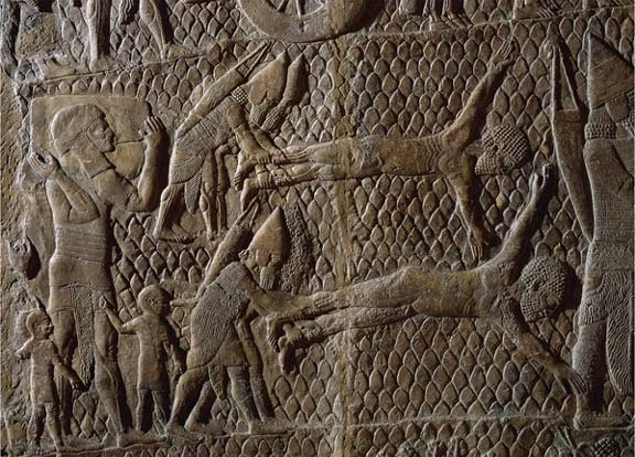 Lachish wall relief, British Museum