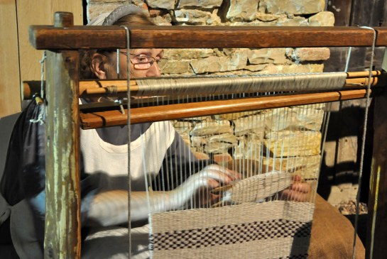 The beam of a weaving loom