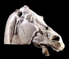 Marble statue of a horse