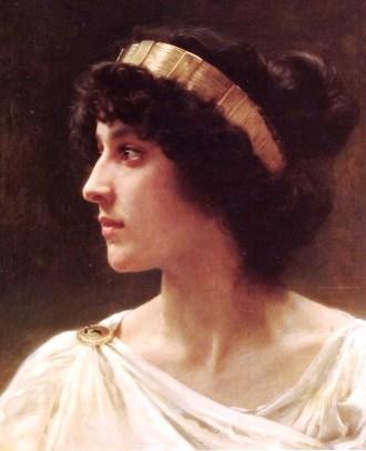 Bible princess: Herodias. Painting of a Roman-era woman by the French painter Bouguereau